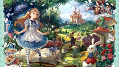 HD Alice in Wonderland Wallpaper   PixelsTalk.Net