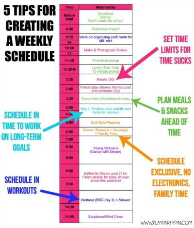 How to Create a Weekly Schedule that Helps You Get More ...