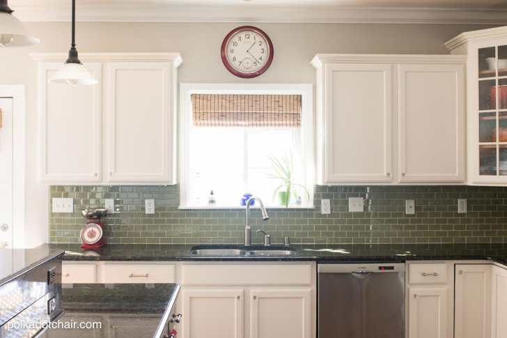 painted kitchen cabinet ideas kitchen makeover reveal kitchen cabinet painting Before and After Photos of a Kitchen that had it s Cabinets Painted White lots of