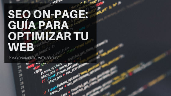 SEO on-page Guía para optimizar tu web
