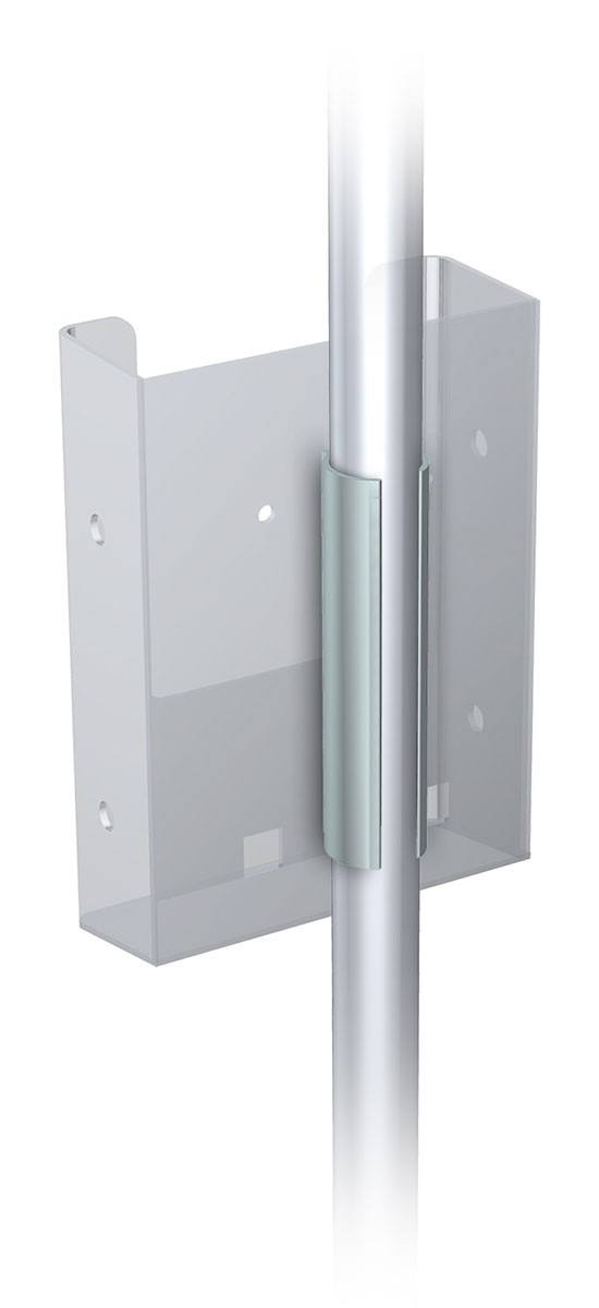 Snap On Brochure Holder   Power Graphics com Snap On Acrylic Brochure Holder