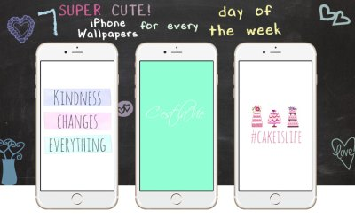 7 Super Cute iPhone Wallpapers for Every Day of the Week | Preppy Wallpapers