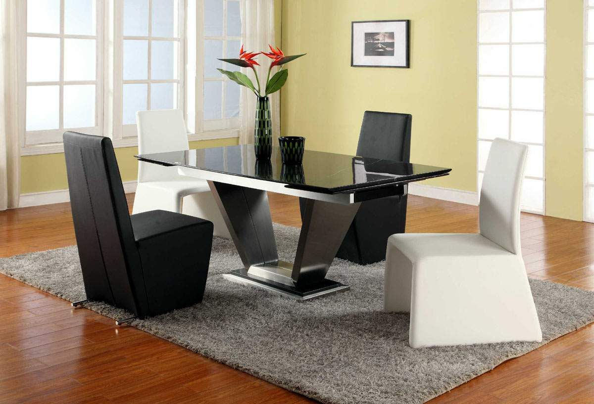 contemporary dining table set modern kitchen table chairs Contemporary Modern Dining Set