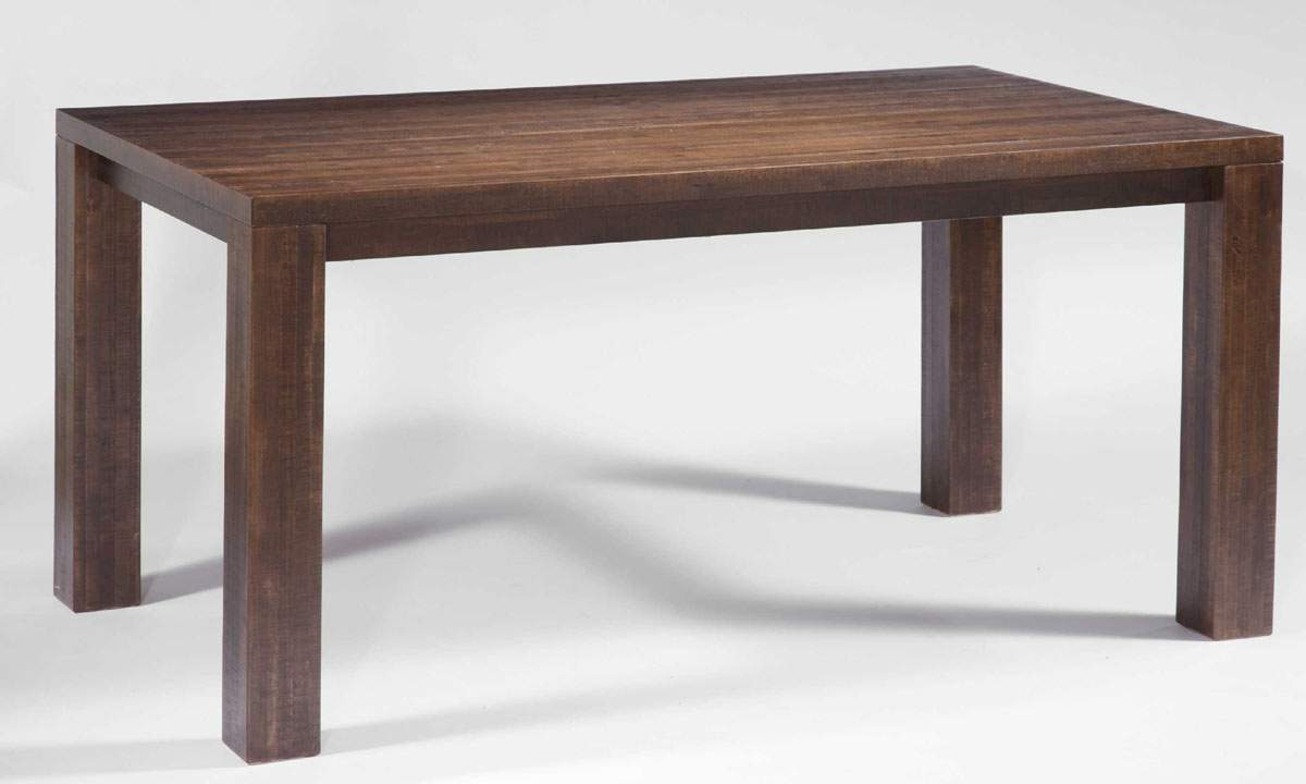 mckay base solid wood rustic dining table w extension solid wood kitchen tables DINING TABLE