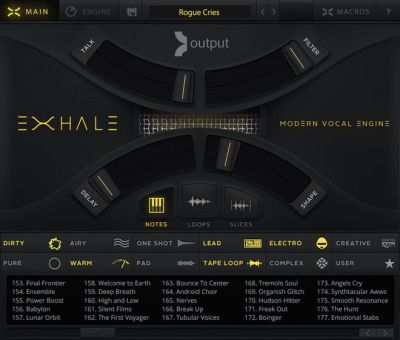 EXHALE Modern Vocal Engine Plugin by Output