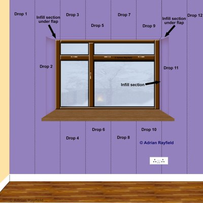 How to wallpaper around a window or door reveal :: Property Decorating
