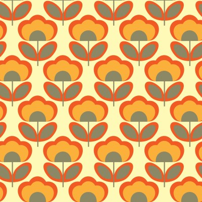 Floral Retro 70s Wallpaper Free Stock Photo - Public Domain Pictures