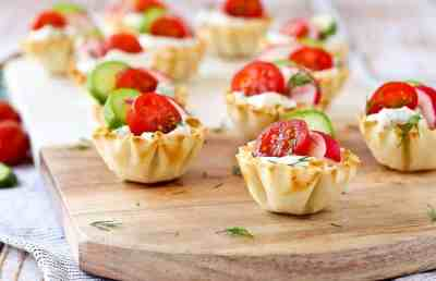 Spring Herb Cream Cheese Appetizer Cups - Rachel Cooks®