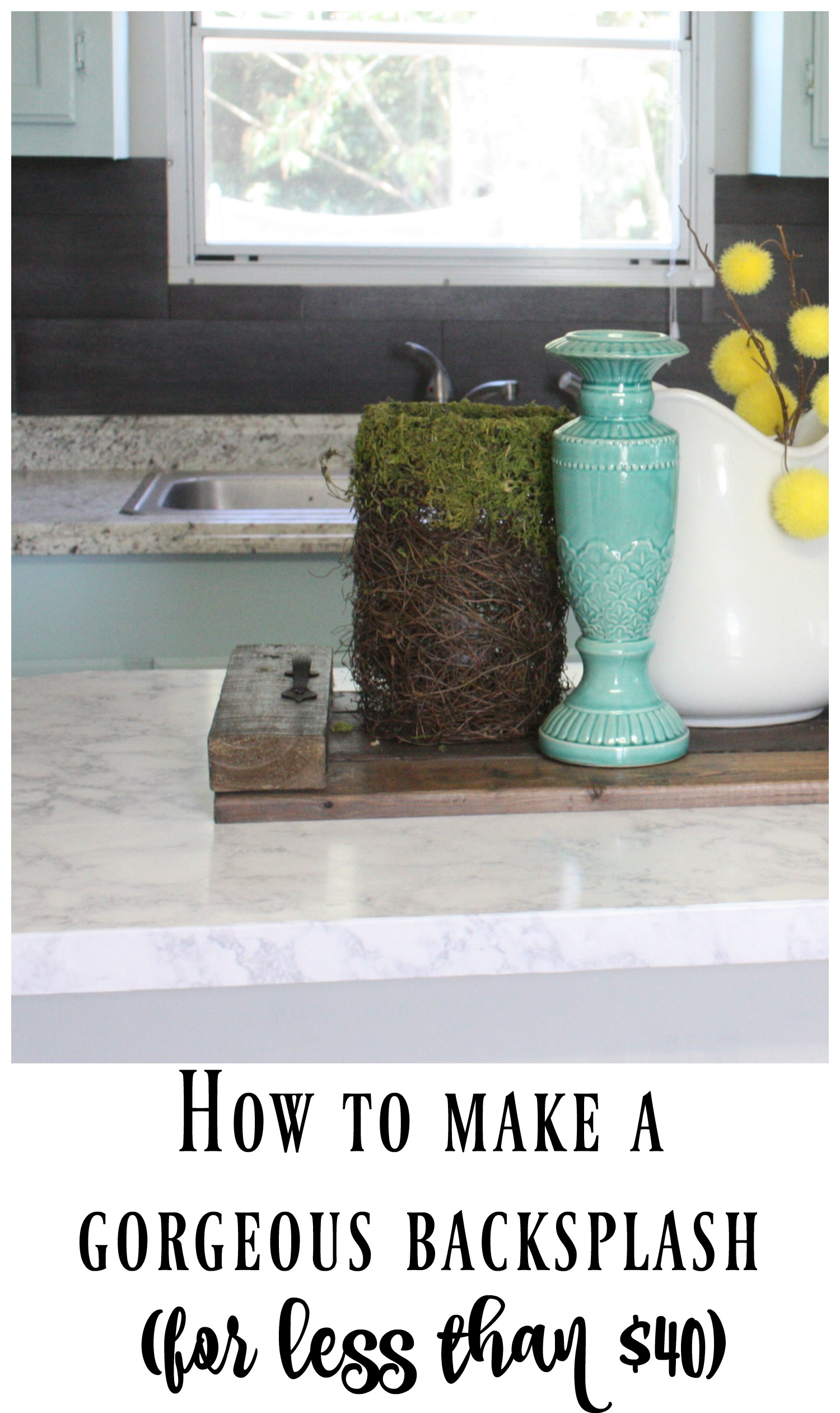 our 40 backsplash vinyl flooring cheap kitchen flooring Kitchen renovations do NOT have to be expensive Check out how this blogger made her