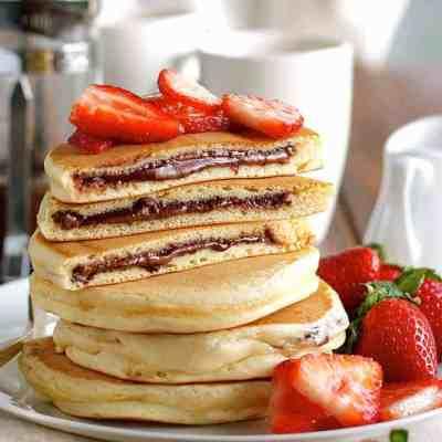 Nutella Stuffed Pancakes | RecipeTin Eats