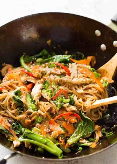Chicken Stir Fry with Rice Noodles | RecipeTin Eats