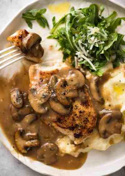 Mushroom Chicken Recipe — Dishmaps