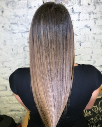 10 New Ombre Haircolor Ideas To Try Next   Redken Ashy light brown ombr     haircolor on straight hair