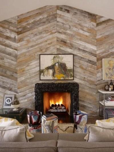 Remodelaholic | Diagonal Planked Reclaimed Wood Kitchen Island