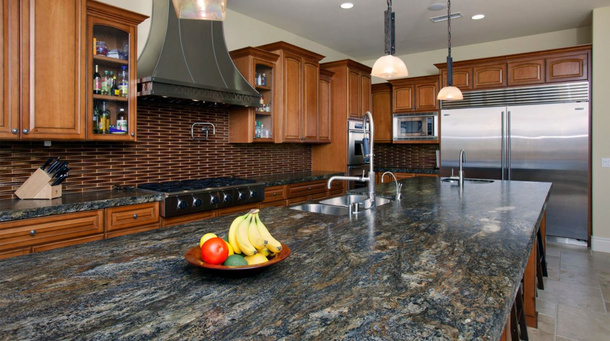 top 10 countertops prices plus pros and cons cost of kitchen countertops Mediterranean style granite countertop McCullough Design Development