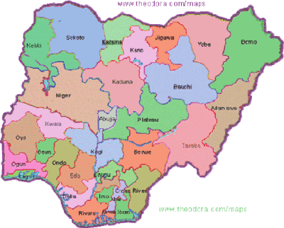 Map of Nigeria showing the 36 states council predicted that Nigeria and... | Download Scientific ...