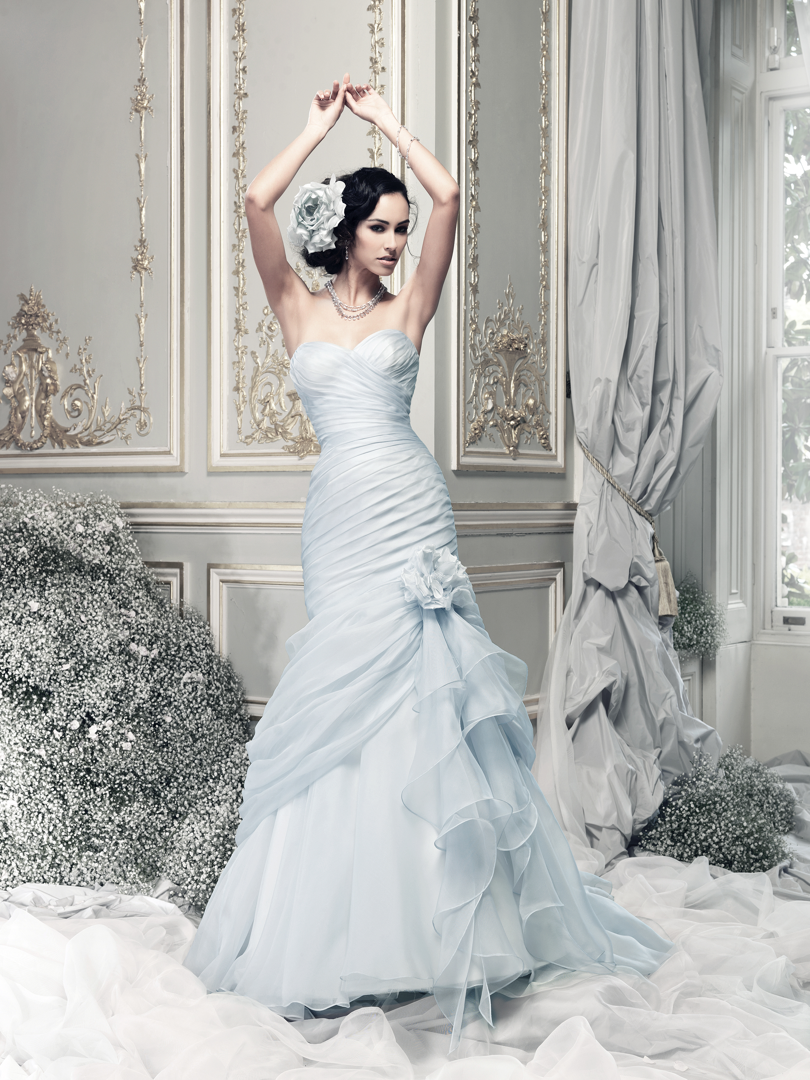 coloured wedding dresses from our favourite bridal designers wedding dresses blue Design by a