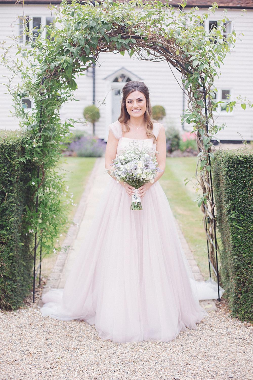 lauren james 2 blush colored wedding dresses Blush Pink Wedding Dress by Suzanne Neville