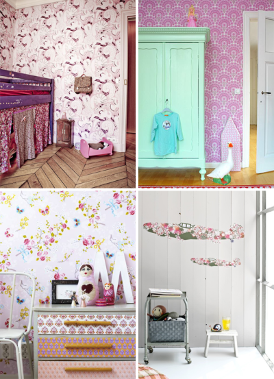 vintage wallpaper in kids rooms | Room to Bloom