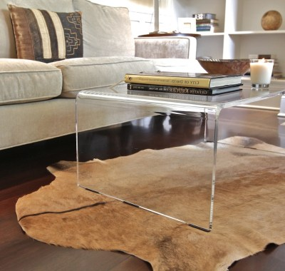 Square Acrylic Coffee Table | Roy Home Design