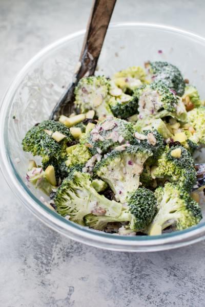 Healthy Broccoli Salad • Salt & Lavender