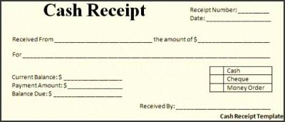 9 Cash Receipt Template - SampleTemplatess - SampleTemplatess
