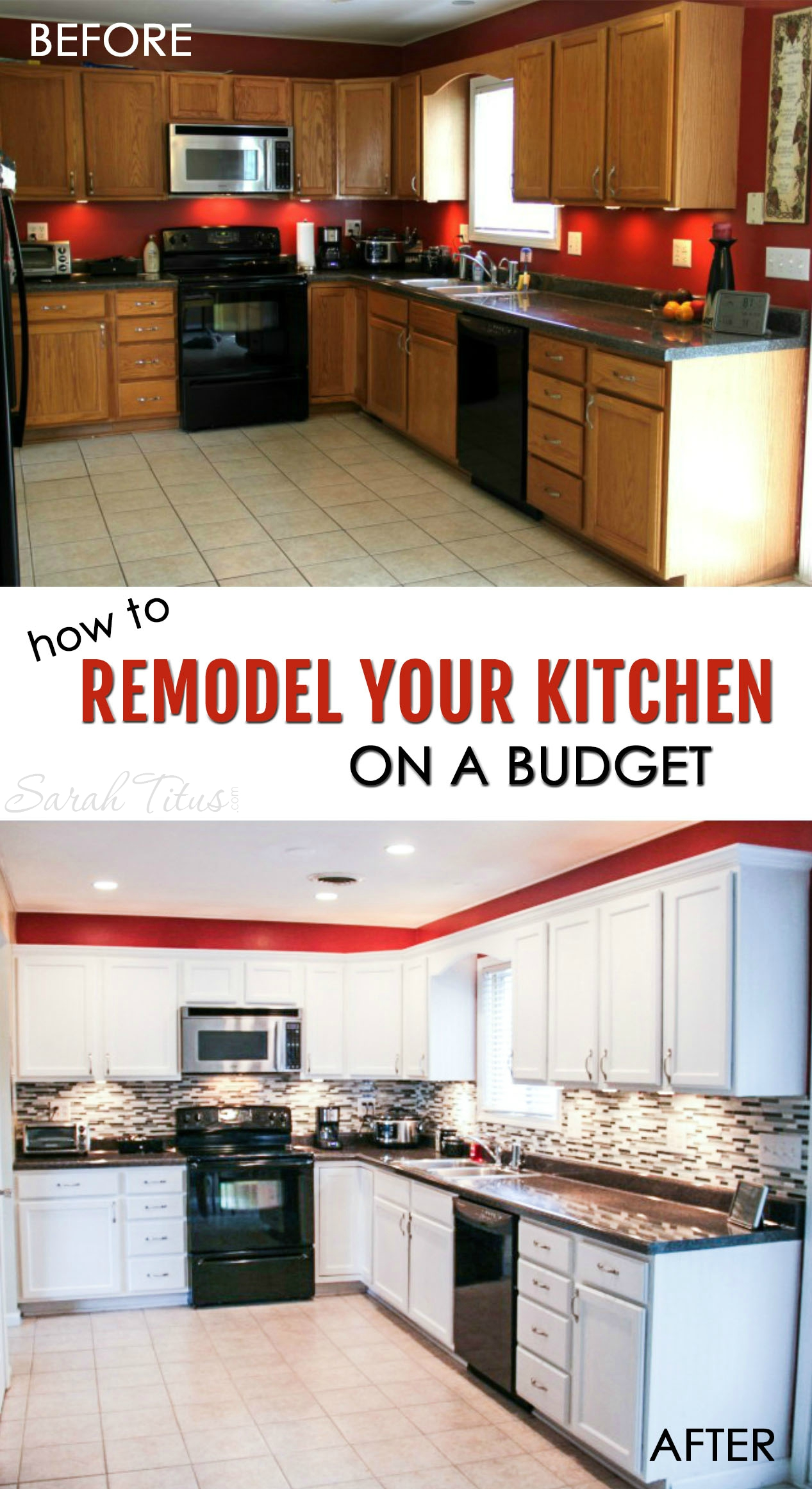 how to remodel your kitchen on a budget budget kitchen remodel Most kitchen renovations are very expensive but this trick can make your kitchen look brand