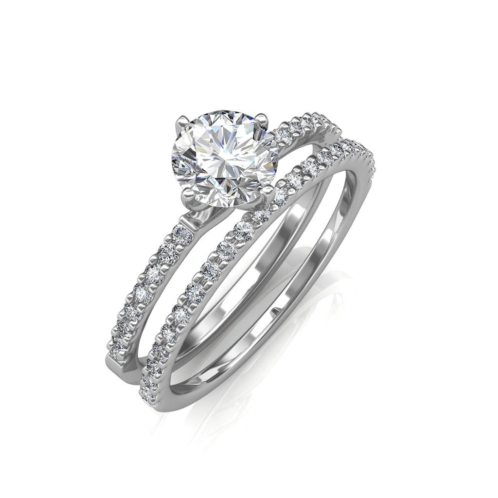 the elegant engagement ring with wedding band elegant wedding rings The Elegant Engagement Ring with Wedding Band