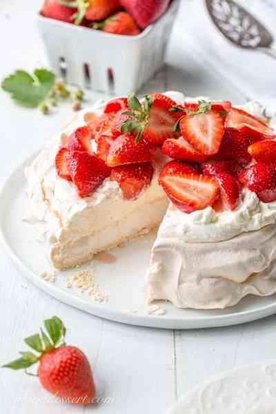 Strawberry & Mascarpone Pavlova Recipe - Saving Room for Dessert