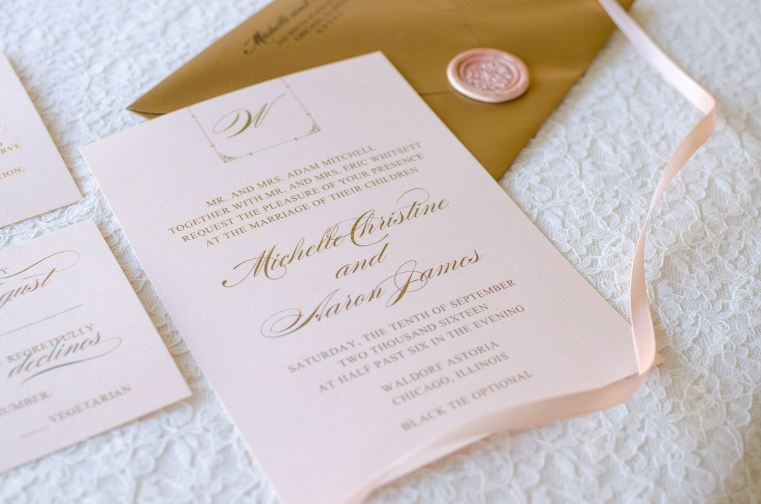 the lullaby suite rose gold wedding invitations important