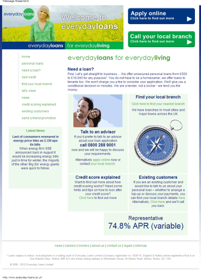 Everyday Loans @ www.everyday-loans.co.uk - Credit Cards and Loans for Bad Credit. - Send Me Dosh