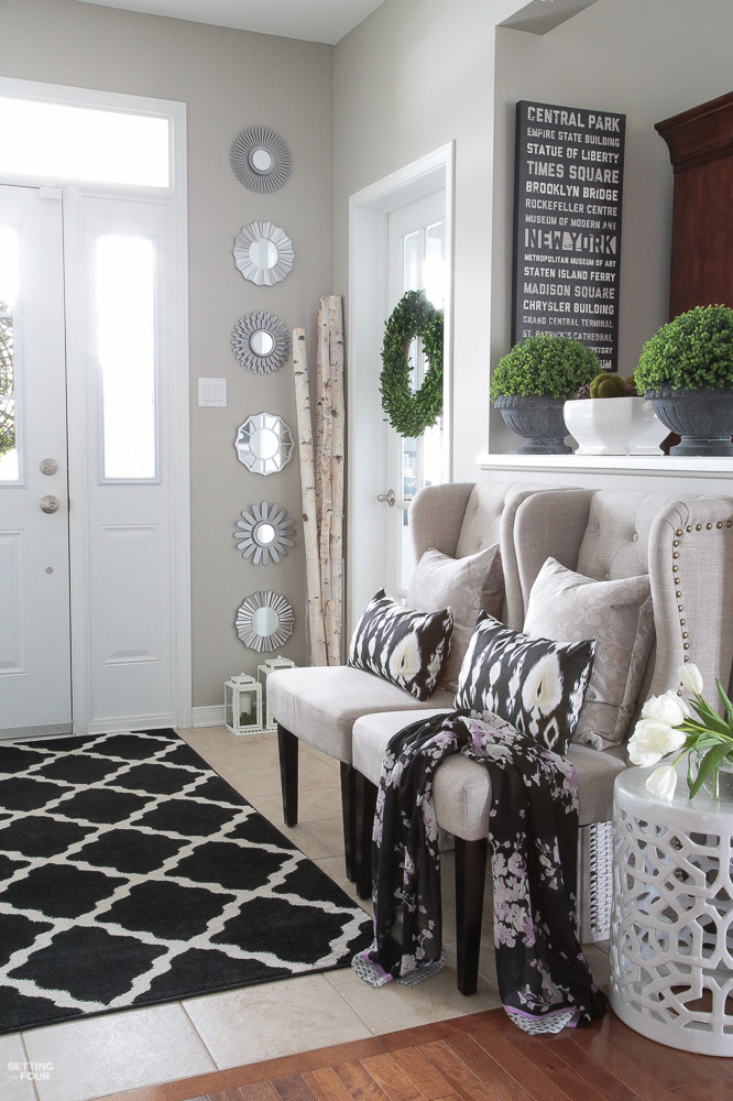 Decorating with Lanterns   Outdoor and Indoor Ideas   Setting for Four How to decorate with lanterns indoors and outdoors  Lanterns look beautiful  in a foyer