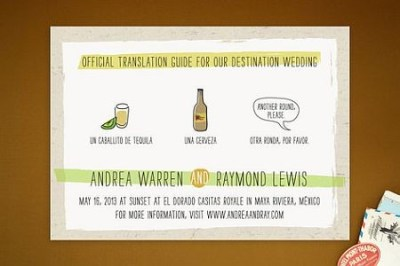 Translation Destination Wedding Invitations « SHEfinds