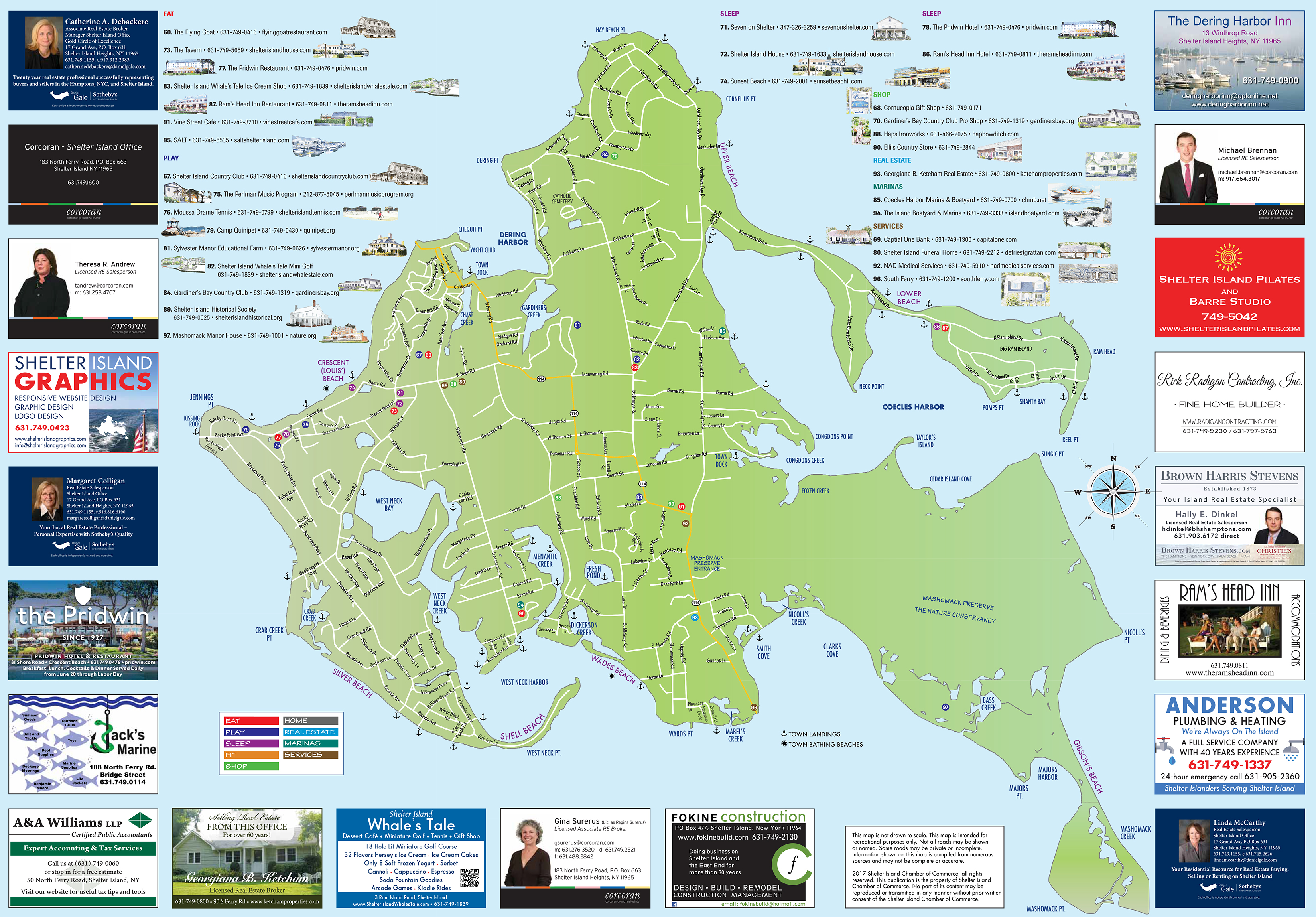Maps and Trails     Town of Shelter Island Back of Map