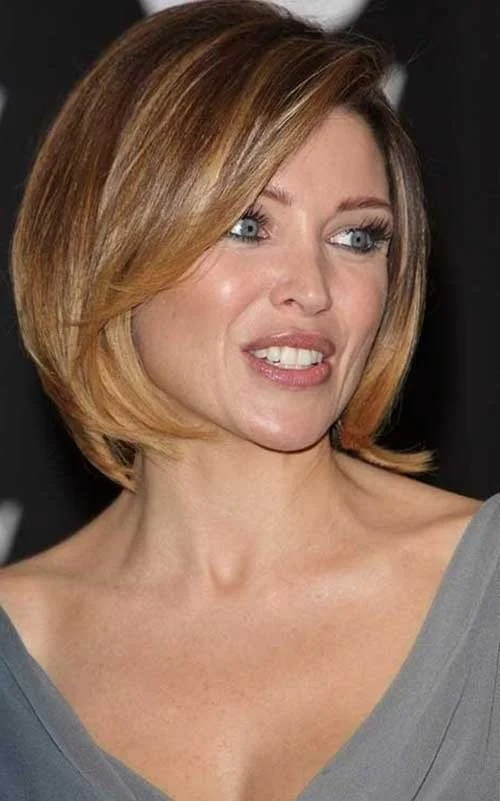 20 New Brown Bob Hairstyles   Short Hairstyles 2017   2018   Most     Dannii Minogue s Light Brown Bob Hair with Highlights