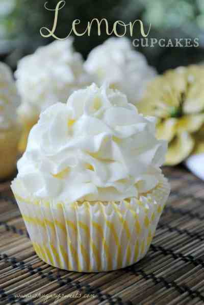 Lemon Cupcake with Lemon Buttercream - Shugary Sweets
