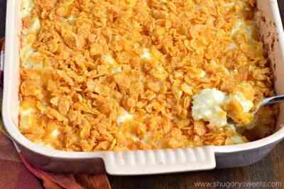 Cheesy Hashbrown Casserole - Shugary Sweets