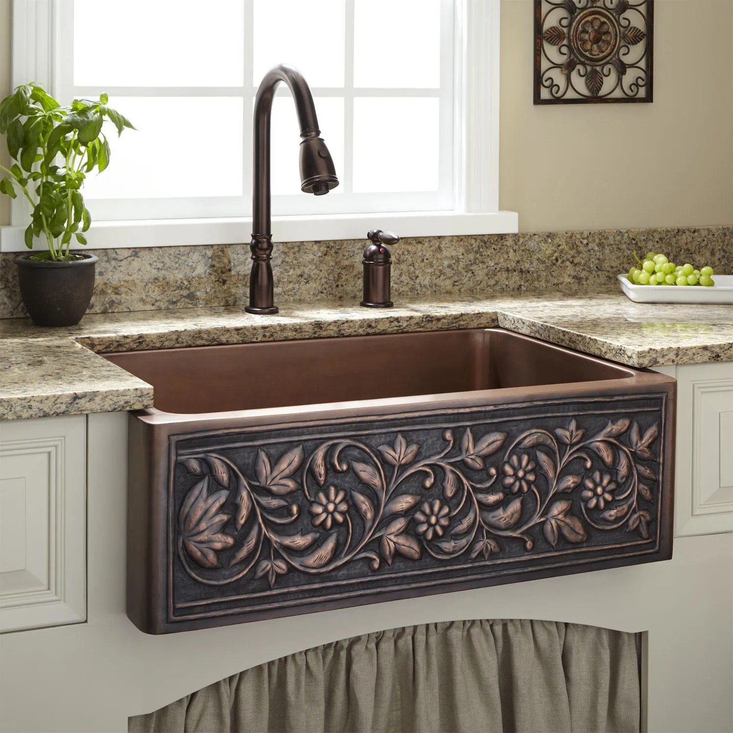 copper farmhouse sink farm sinks for kitchens Signature Hardware 30