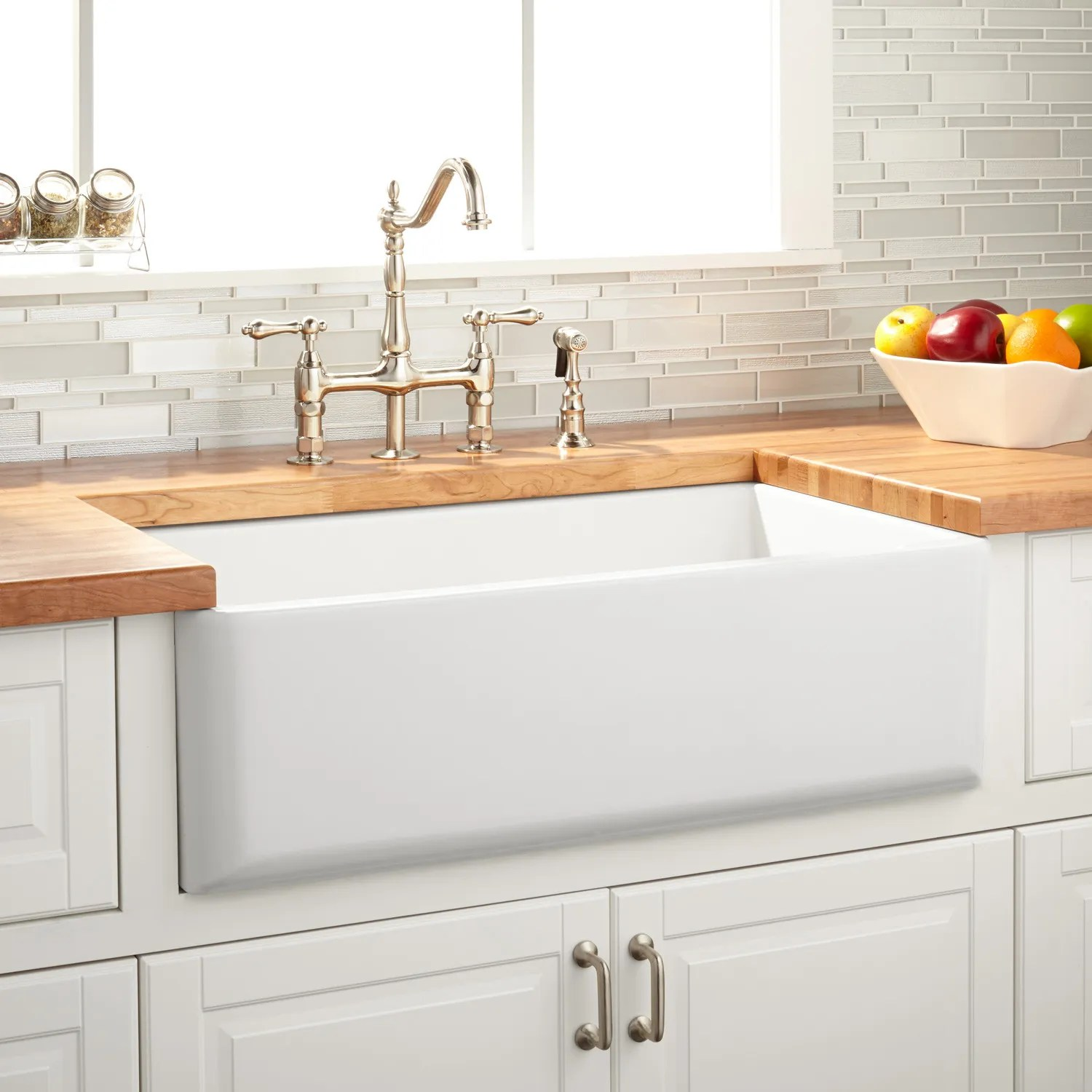 33 grigham reversible farmhouse sink smooth apron white farm kitchen sink 33 Grigham Reversible Farmhouse Sink Smooth Apron White
