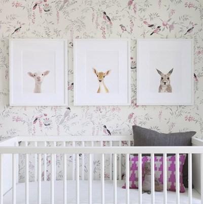 girls nursery // bird wallpaper // The Animal Print Shop - Simplified Bee