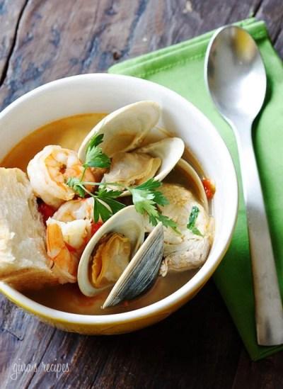 Halibut and Shellfish Soup | Skinnytaste