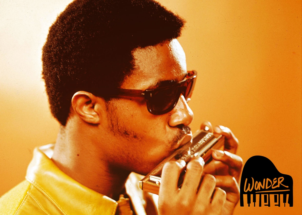Stevie Wonder is better at harmonica than you  Photo illustration by Slate  Photo by RB Redferns
