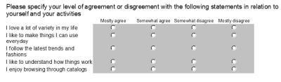Lifestyle Survey Questions