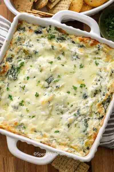 The Best Spinach Artichoke Dip recipe