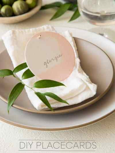 DIY Place Cards | Spoon Fork Bacon