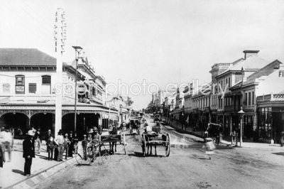 Brisbane Street circa 1860 Photo | Celebrities Posters & Art Prints