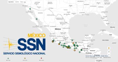 SSN - Últimos sismos | UNAM, México