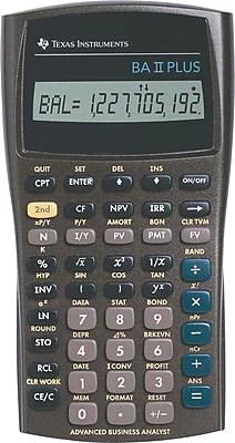 Texas Instruments® BA II PLUS™ Financial Calculator | Staples®