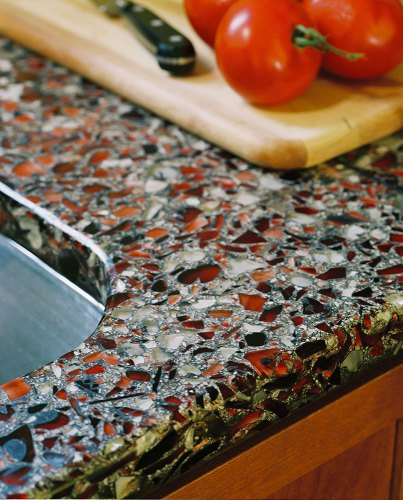 vetrazzo countertop eco friendly stunning recycled glass recycled glass and cement kitchen counters kitchen counters made from recycled glass
