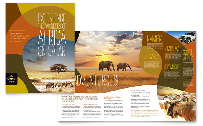 Creative Travel Brochures   Marketing Ideas   StockLayouts Blog Brochure Example   Africa Travel